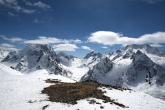 The beautiful landscape of the Caucasus Mountains Royalty Free Stock Image