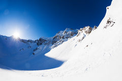 Beautiful landscape of Caucasus in winter Royalty Free Stock Images
