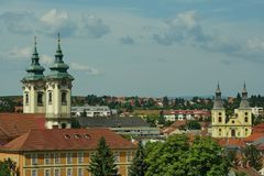 Landscape from Eger, Hungary royalty free stock image