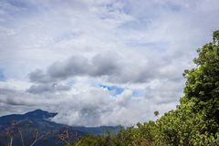 Landscape blue sky costa rica clouds stock images