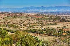 Beautiful landscape in central Sardinia, Italy. Beautiful natural landscape in central Sardinia, Italy Royalty Free Stock Image