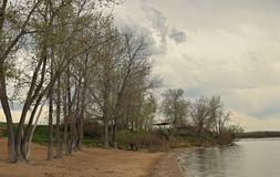 Beautiful landscape in Cherry Creek Park and Reservoir, Denver, Colorado royalty free stock photography