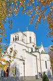 Beautiful landscape of Church of the St. Sava in Belgrade Stock Photo