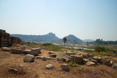 Beautiful landscape of city of Hampi in India Royalty Free Stock Images