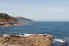 Beautiful landscape of the coast of Bayona Stock Image