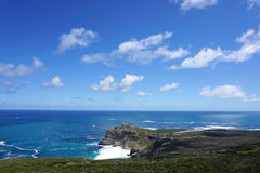 Beautiful landscape of the coast at Capepoint in Cape town Royalty Free Stock Photos