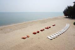 Beautiful landscape of the coast of Cha-um Royalty Free Stock Image
