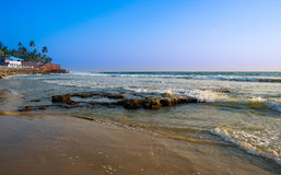 Beautiful landscape of the coast of India, Kerala Stock Photo