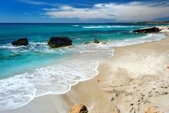 Beautiful landscape of the coast of Sardinia. Scenic landscape of the coast of Sardinia Stock Photo