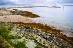 Beautiful landscape coastline of Munkholmen stock image