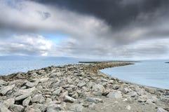 Beautiful landscape coastline of Munkholmen, Trondheim, Norway stock image