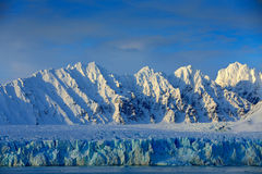 Free Beautiful Landscape. Cold Sea Water. Land Of Ice. Travelling In Arctic Norway. White Snowy Mountain, Blue Glacier Svalbard, Norwa Stock Images - 95608204