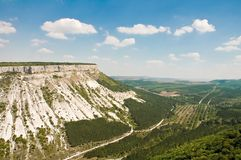 Beautiful landscape in Crimea mountain Stock Photo