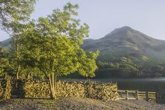 Beautiful landscape of Cumbria, Uk stock photography