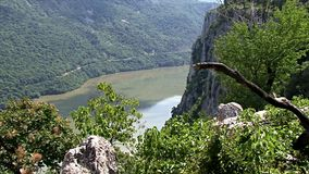 Beautiful landscape on the Danube Gorge stock video footage