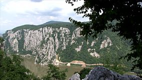 Beautiful landscape on the Danube Gorge stock footage