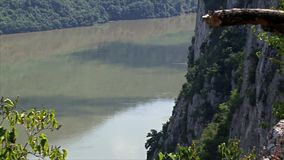 Beautiful landscape on the Danube Gorge stock video