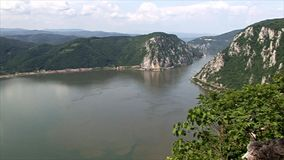 Beautiful landscape on the Danube Gorge. stock video
