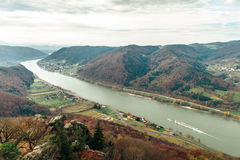 Beautiful landscape with danube river Royalty Free Stock Image