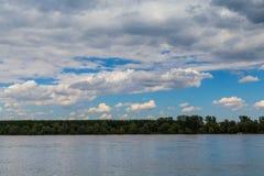 Beautiful landscape Danube Serbia. Beautiful landscape near river Danube, forest Stock Photo