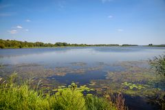 River landscape. Dnepr River. The beautiful landscape of the Dnieper River stock image
