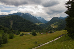 Beautiful landscape in the Dolomites. Sudtirol, Italy,Europe Royalty Free Stock Photography