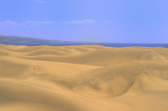 Beautiful landscape with dunes of Gran-Canaria, Canarian islands Royalty Free Stock Images