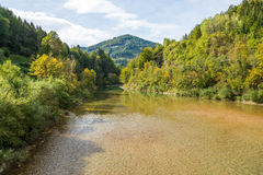 Beautiful landscape with the Enns river in UpperAustria Stock Photo