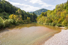 Beautiful landscape with the Enns river in UpperAustria Royalty Free Stock Photography