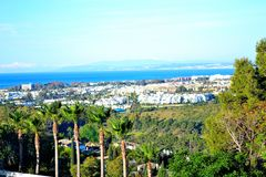 a beautiful landscape of Estepona, Costa del Sol, Spain Stock Photography