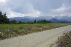 Beautiful landscape in Fagaras district in Romania Stock Photos