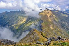 Beautiful landscape in Fagaras Mountains Stock Image