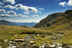 Beautiful landscape in Fagaras mountains Royalty Free Stock Photography