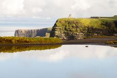 Cliffs of Moher and OBriens Tower Ireland Stock Photo