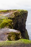 Cliffs of Moher and OBriens Tower Ireland. Beautiful landscape at the famous Cliffs of Moher and  O`Brien`s Tower in Co. Clare, Europe, ireland Stock Images