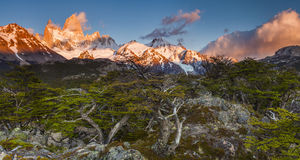 Beautiful landscape with Fitz Roy. Patagonia. Royalty Free Stock Images