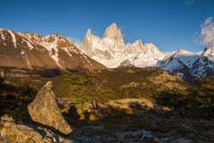 Beautiful landscape with Fitz Roy. Patagonia. Stock Image