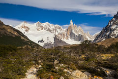 Beautiful landscape with Fitz Roy. Patagonia. Royalty Free Stock Photography