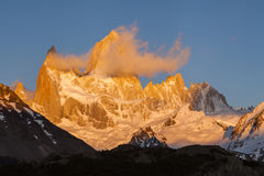 Beautiful landscape with Fitz Roy. Patagonia. Stock Photos