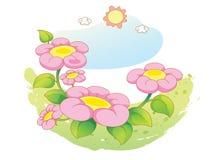 Beautiful landscape flowers Stock Photos
