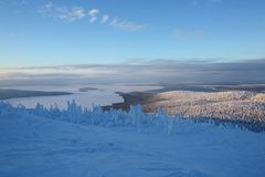 Finnish Lapland in Winter Stock Photography