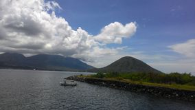 Beautiful landscape from fort kalumata. The best view from fort kalumata, Ternate Royalty Free Stock Photography