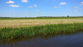 The beautiful landscape in Friesland Stock Photography