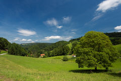 A beautiful landscape in Germany. Stock Photo