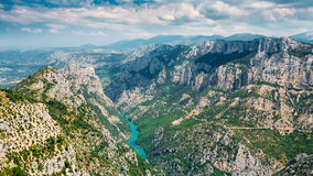 Beautiful landscape of the Gorges Du Verdon in France Stock Image