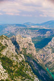 Beautiful landscape of the Gorges Du Verdon in France. Vertical Stock Photos