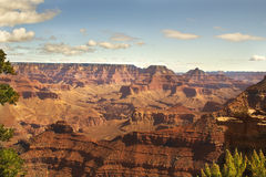 Beautiful Landscape of Grand Canyon with clouds in Arizona Stock Photo
