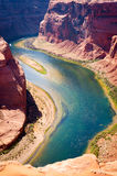 Beautiful landscape at the Grand Canyon with the Colorado River Royalty Free Stock Image