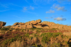 Beautiful landscape with granite boulders Royalty Free Stock Photos