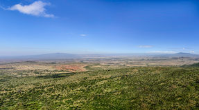 Beautiful landscape of Great Rift Valley in Africa. Panoramic view of Great Rift Valley in Africa Stock Photo